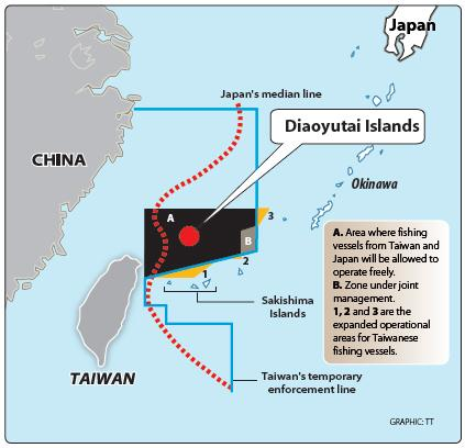 Taiwan-Japan Agreement map