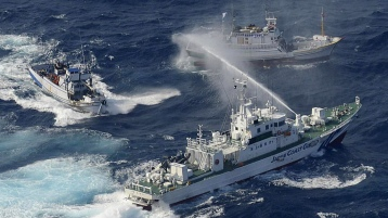 China, Japan and Taiwan all claim the Senkaku-Diaoyu islands as sovereign territory. On Tuesday, coast guard vessels from Japan and Taiwan dueled with water cannons after dozens of Taiwanese boats escorted by patrol ships sailed into waters around the islands.Source: NPR