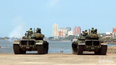 ROC Army MBT's conductin anti-landing operations during 2014 Han Kuang 30 exercise (漢光三十號演習). Image Credit: CC BY-SA 2.0 via Flickr/親年日報.
