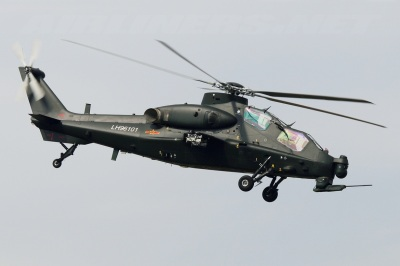China's WZ-10 attack helicopter. Image Credit: CC BY-SA 3.0 via Wikimedia Commons/Jordan.
