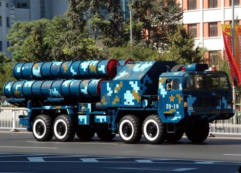 Chinese Hong Qi 9 (HQ-9) launcher during China's 60th anniversary parade, 2009. Image Credit: CC by Jian Kang/Wikimedia Commons