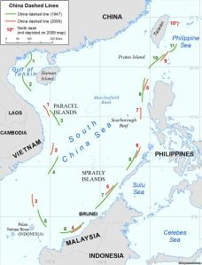 Map depicting the original line from 1947 and the latest modifications  from 2009. Image Credit: U.S. Department of Defense