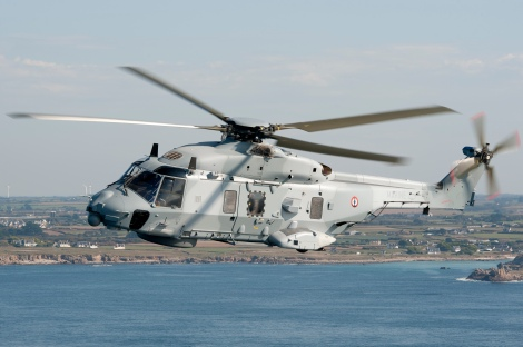 Airbus-built NH-90 NFH Caïman helicopter can operate aboard Mistral-class ships. Image Credit: Wikimedia Commons.
