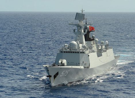 PLA Navy frigate Yueyang (FF 575) took part in Rim of the Pacific (RIMPAC) Exercise 2014. Image Credit: Wikimedia Commons.