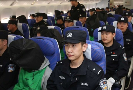 Last week, 45 Taiwanese were among 77 alleged fraudsters who were deported from Kenya to China. Image Credit: Xinhua