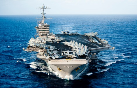 The Nimitz-class aircraft carrier USS John C. Stennis (CVN 74) transits the Pacific Ocean. John C. Stennis is operating in the U.S. 7th Fleet area of responsibility while on a seven-month deployment. (U.S. Navy photo by Mass Communication Specialist 3rd Class Kenneth Abbate/Released)